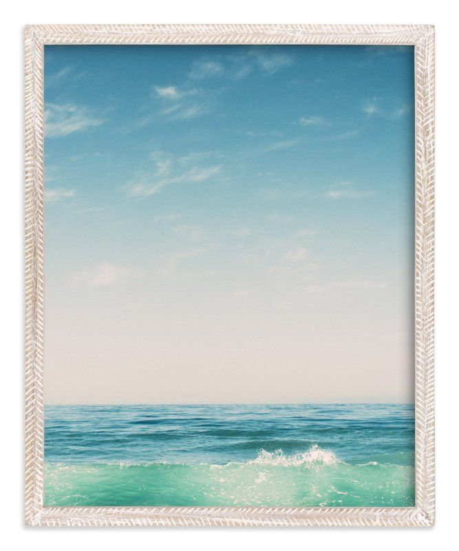 """""""Malibu Surf and Sky II"""" - Art Print by Kamala Nahas in beautiful frame options and a variety of sizes."""