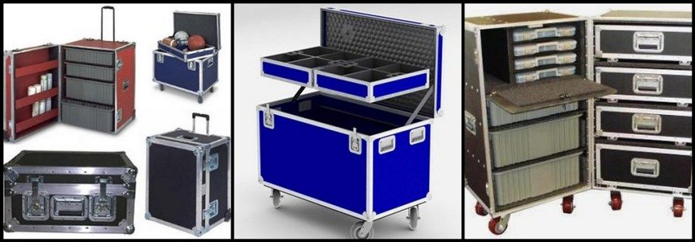 Flight Cases Equipment Shipping Cases Custom Rolling Cases Carrying Cases Trade Show Crates Hard Side Cases Heavy Dut Carrying Cases Carry On Equipment Cases