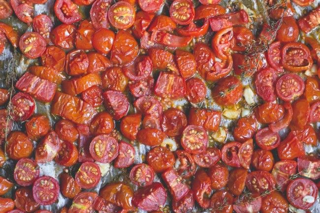 Garlic + Thyme Roasted Tomatoes
