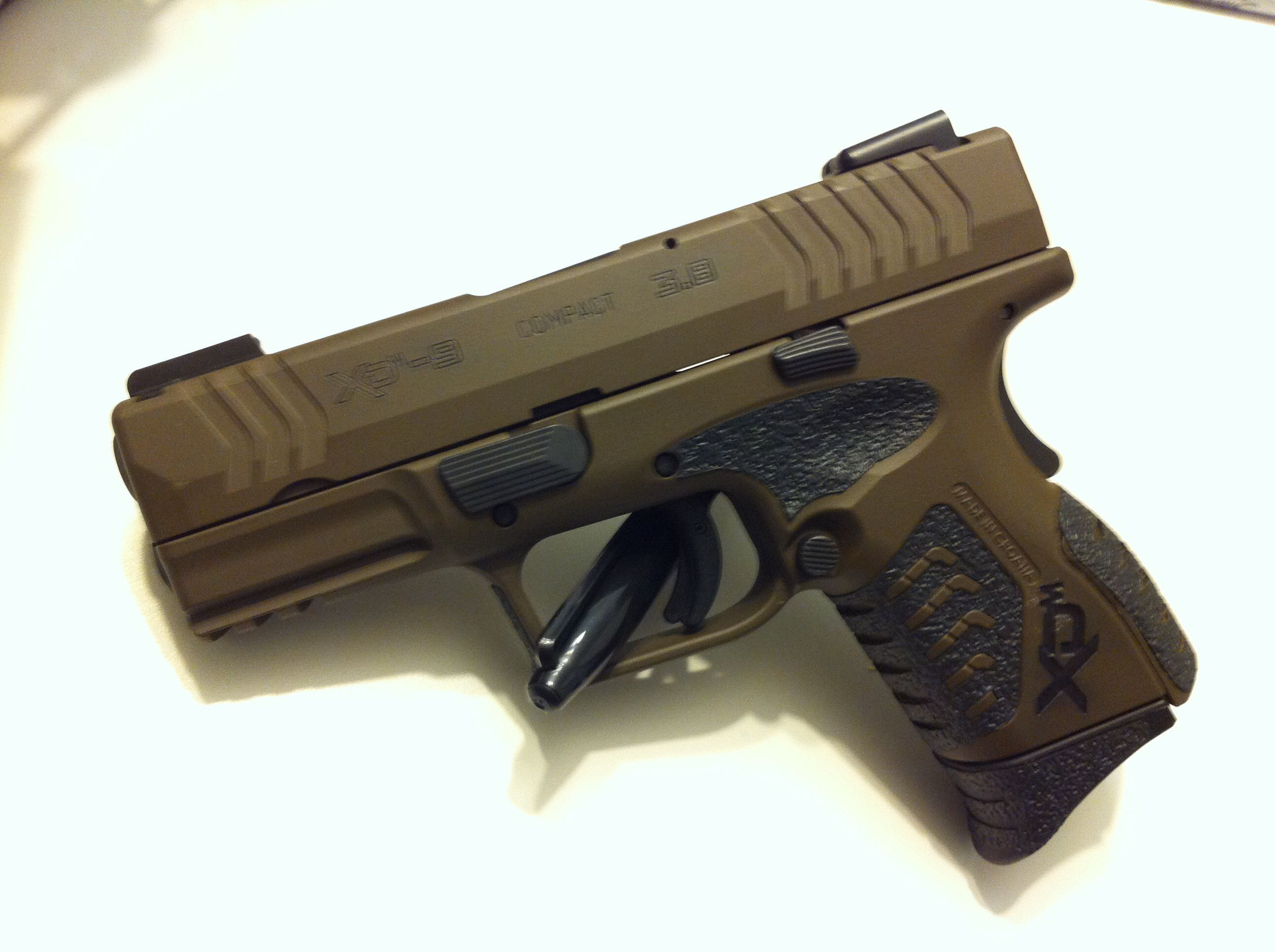 My Carry Piece Xdm Compact 9mm Cerakoted Patriot Brown