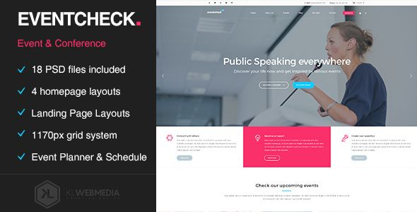 Download ThemeForest Eventcheck Meeting Conference and Event PSD - conference schedule template