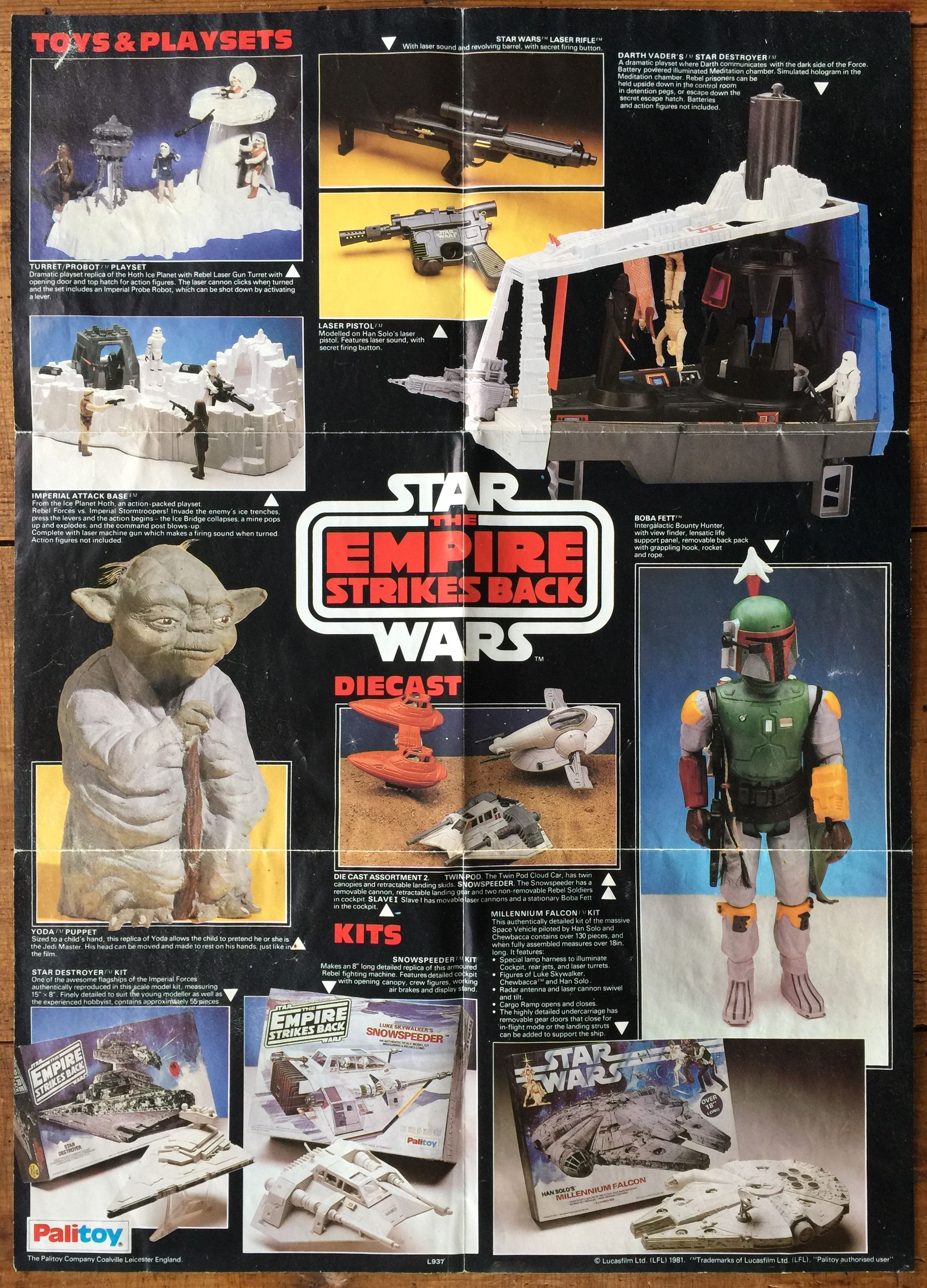 Vintage Palitoy Star Wars Empire Strikes Back Toy Poster Kenshocollection Palitoy Starwars Star Wars Memorabilia Star Wars Toys Star Wars Collection