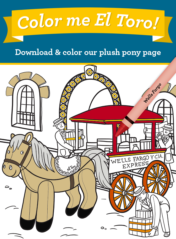 Download The Coloring Page For Our 2014 Plush Pony El Toro The Bull In Spanish He Was A Favorite Horse Of We Pony Activities For Kids English Activities