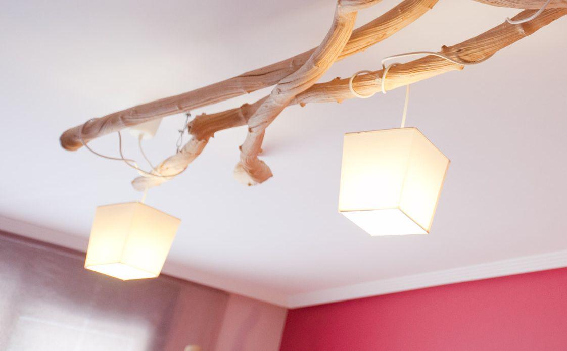 Lámpara con ramas secas pines hermosos Pinterest Rama seca