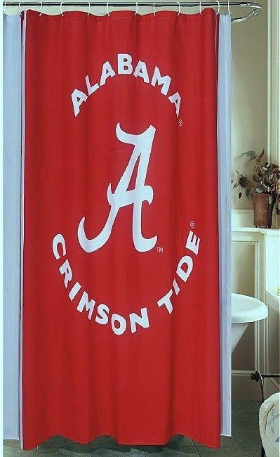 NEW University Of Alabama Crimson Tide Fabric Shower Curtain BV