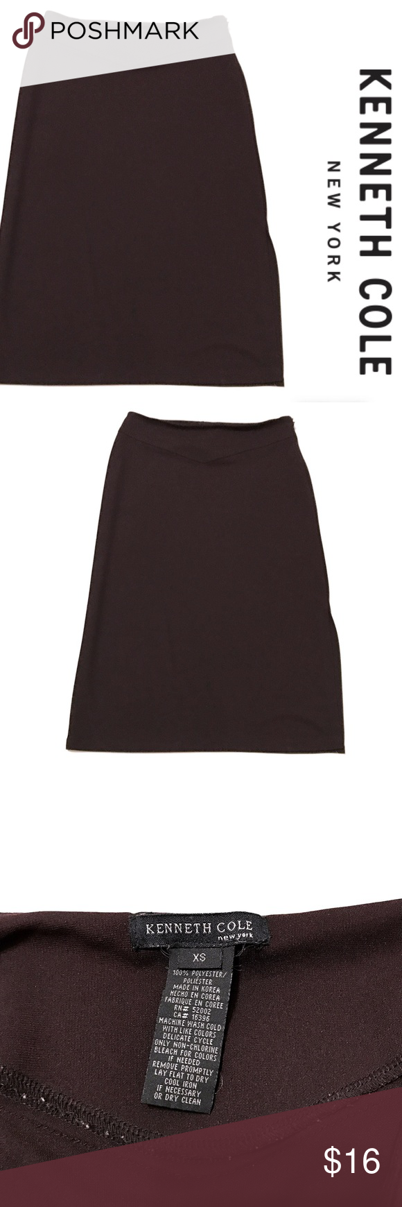 Kenneth Cole Midi Skirt Good used condition. Smoke free home.  No inside pets. True to size. Please feel free to ask me any questions. Make me an offer! Kenneth Cole Skirts Midi