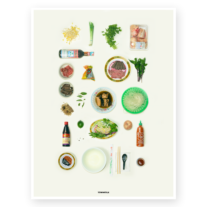 Phở Ingredients Poster