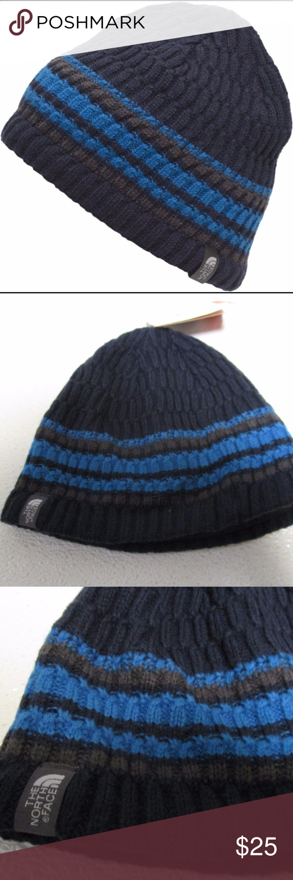 The North Face Blue Beanie Skull cap One size Back with an updated design 0cc3d6b48fb