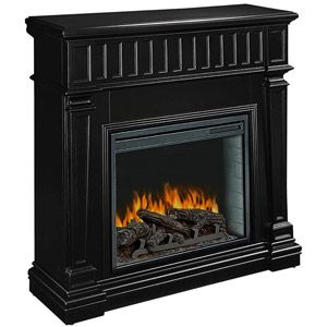 Pleasant Hearth 23 Ballard Providence Black Electric Fireplace