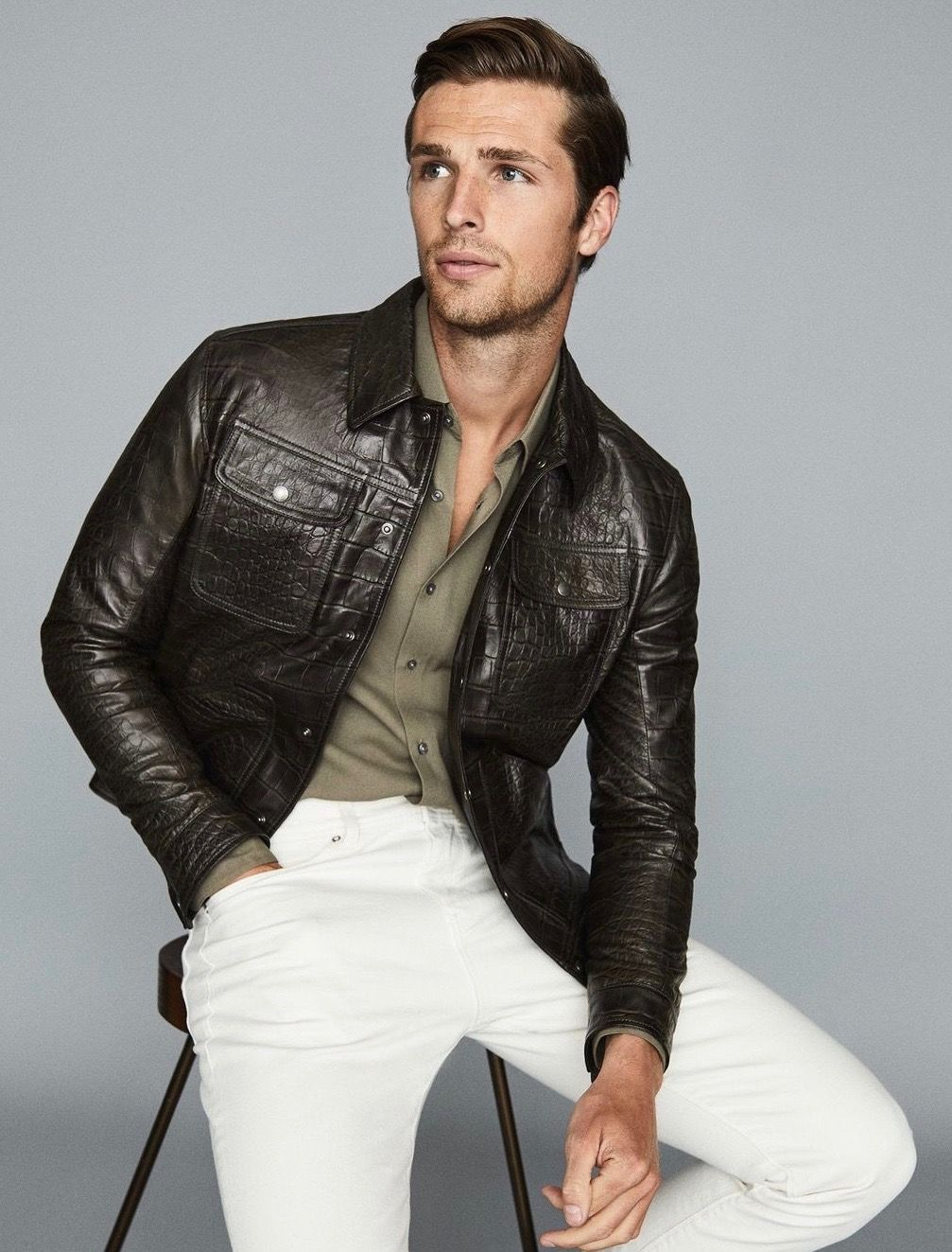 Pin By Dave On Leather Jeans Men Leather Jeans Men Leather Jacket Leather Jacket Style [ 1323 x 1007 Pixel ]