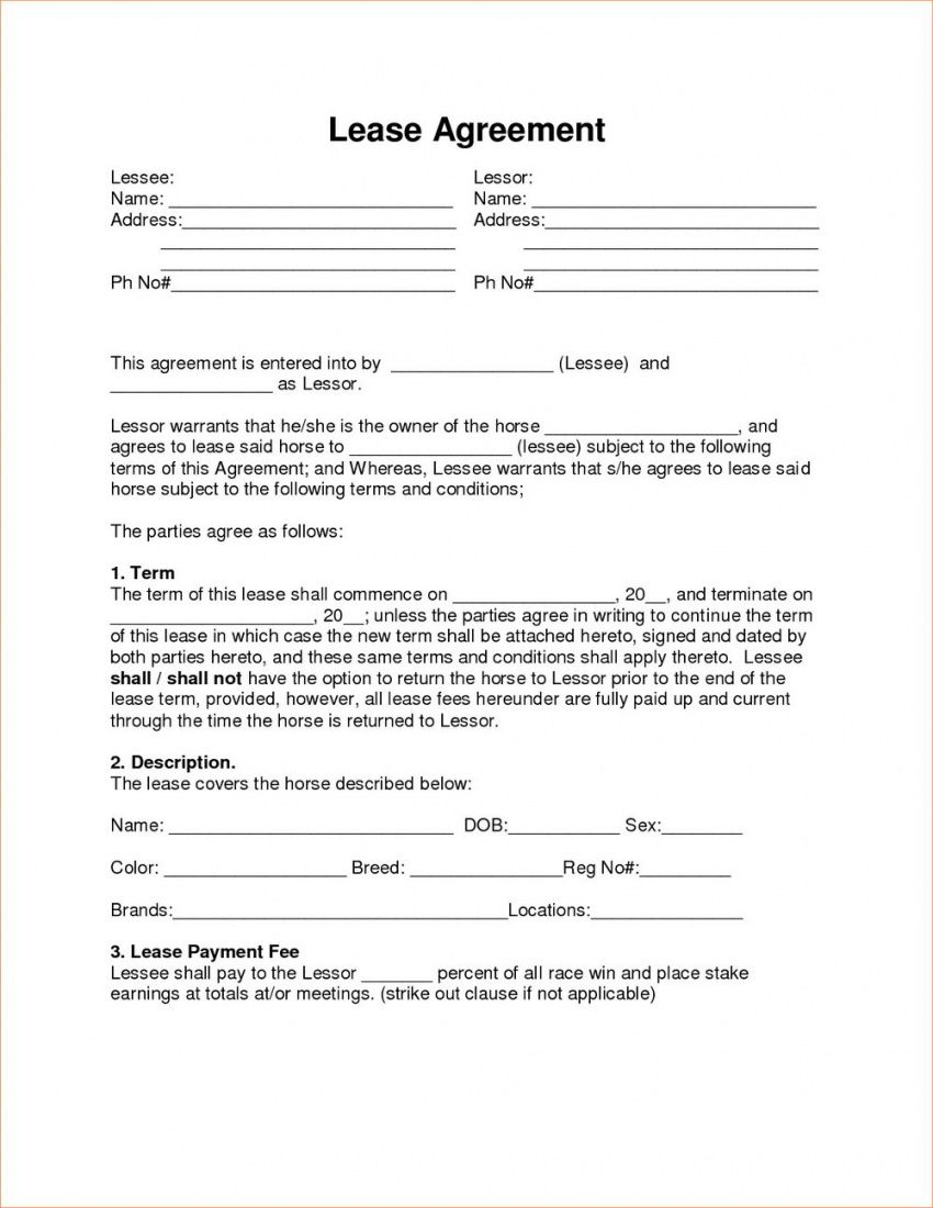 Browse Our Image Of Rent To Own Lease Agreement Template For Free Lease Agreement Contract Template Rental Agreement Templates