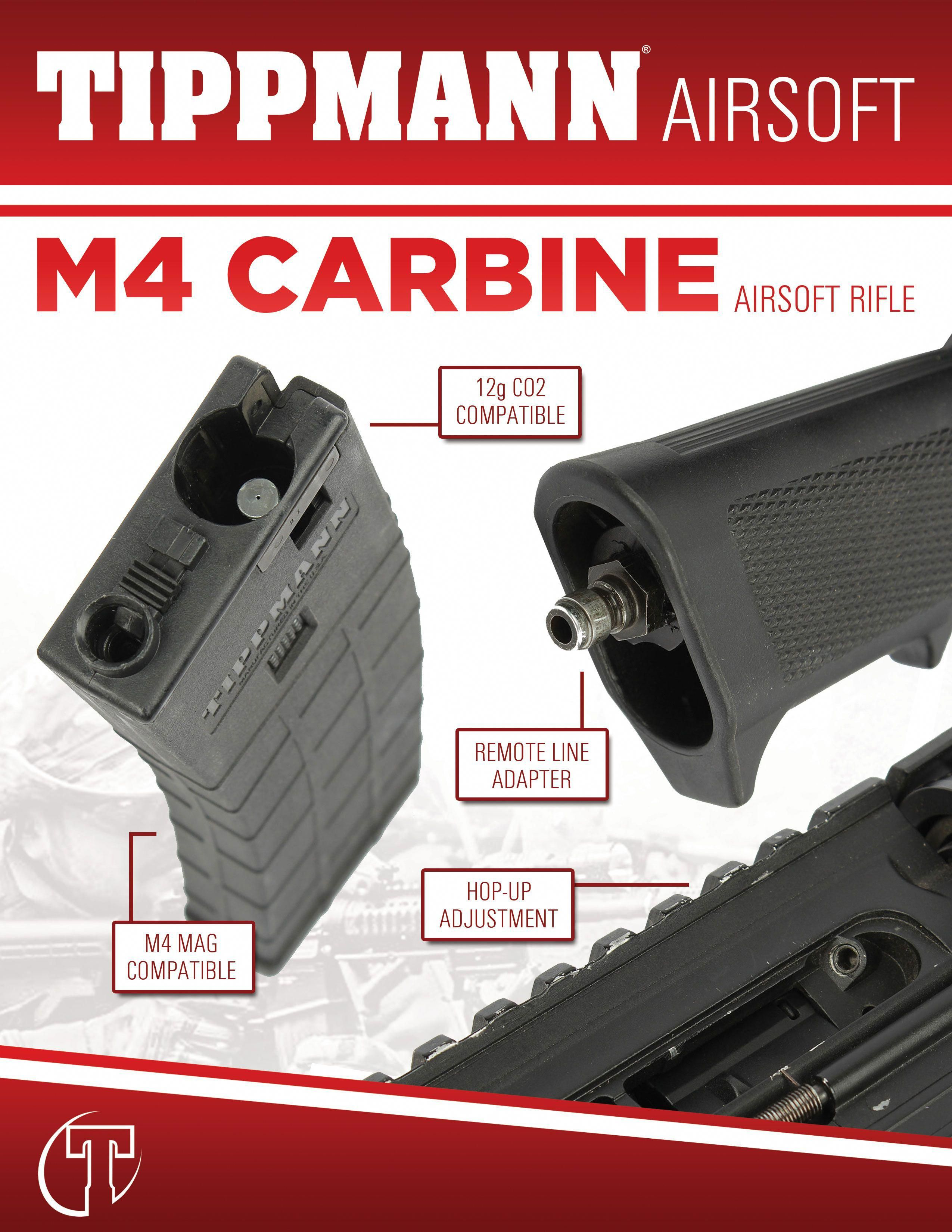 The ALL NEW Tippmann M4 Carbine Airsoft Rifle  CO2 or HPA