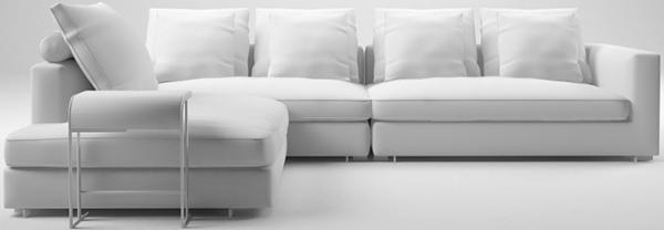 narrow corner sofa clouds modern extra large narrow corner. Black Bedroom Furniture Sets. Home Design Ideas