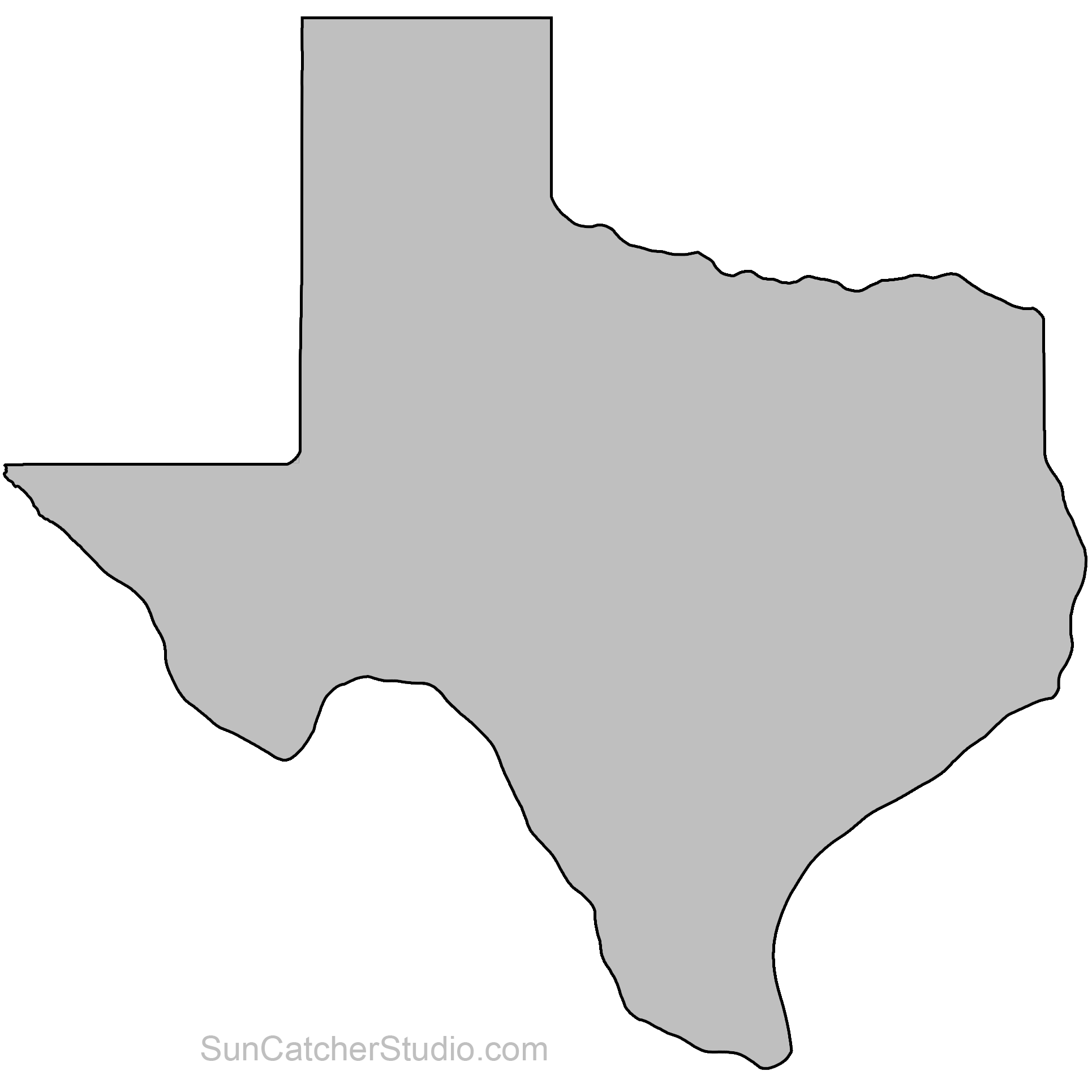It's just an image of Dashing Texas Outline Printable