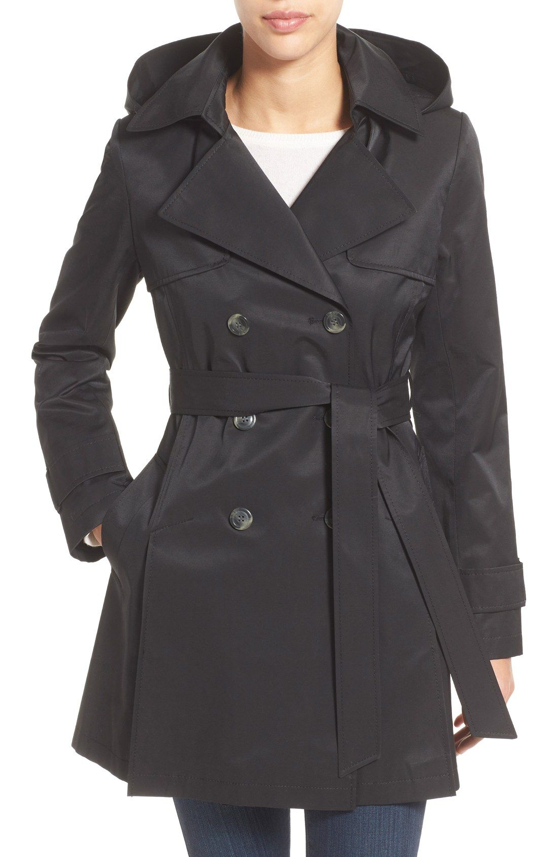 Detachable Hood Trench Coat | Trench, Hoods and Winter fashion