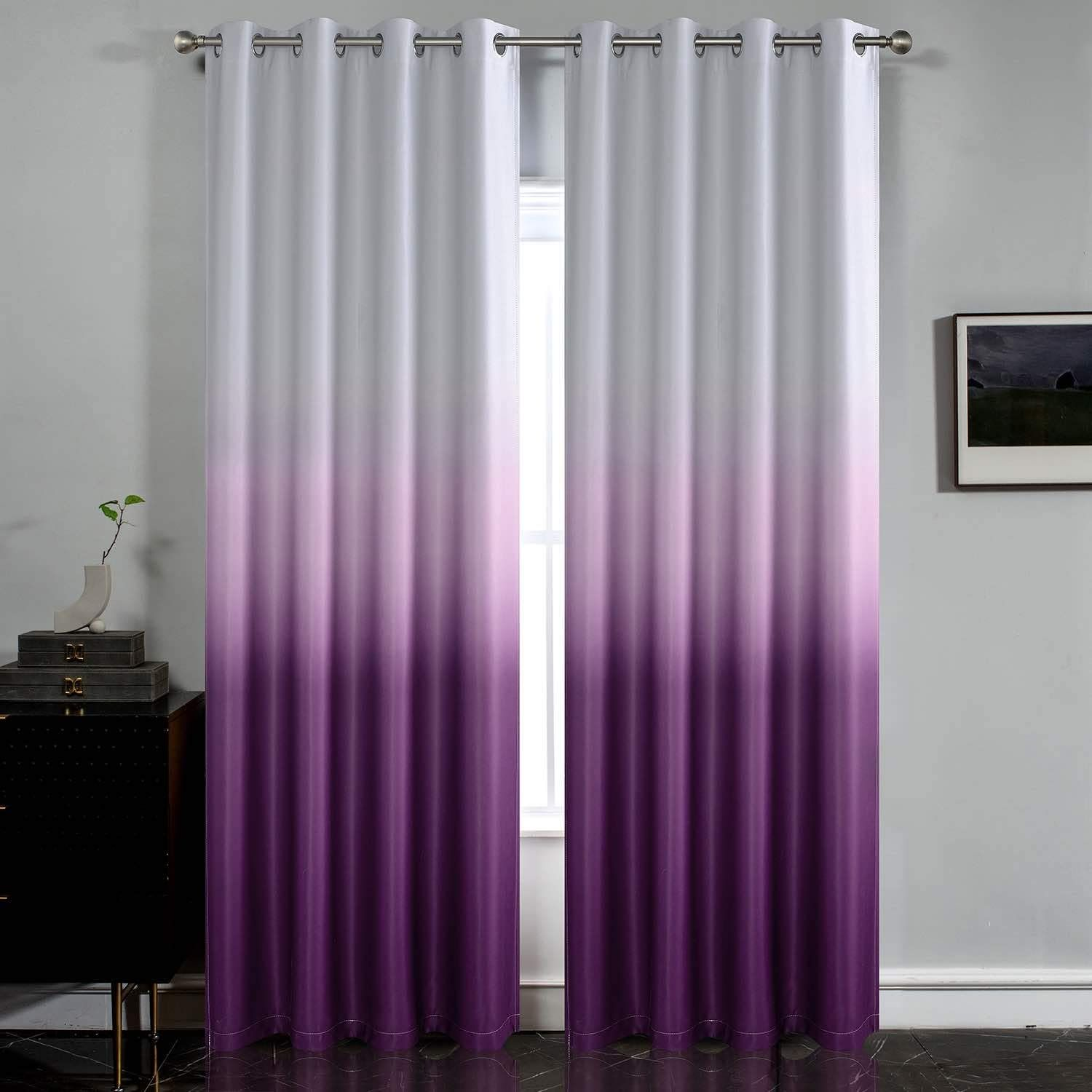 Pin By Lobna Abd El Aziz On Ombre In 2020 Purple Curtains