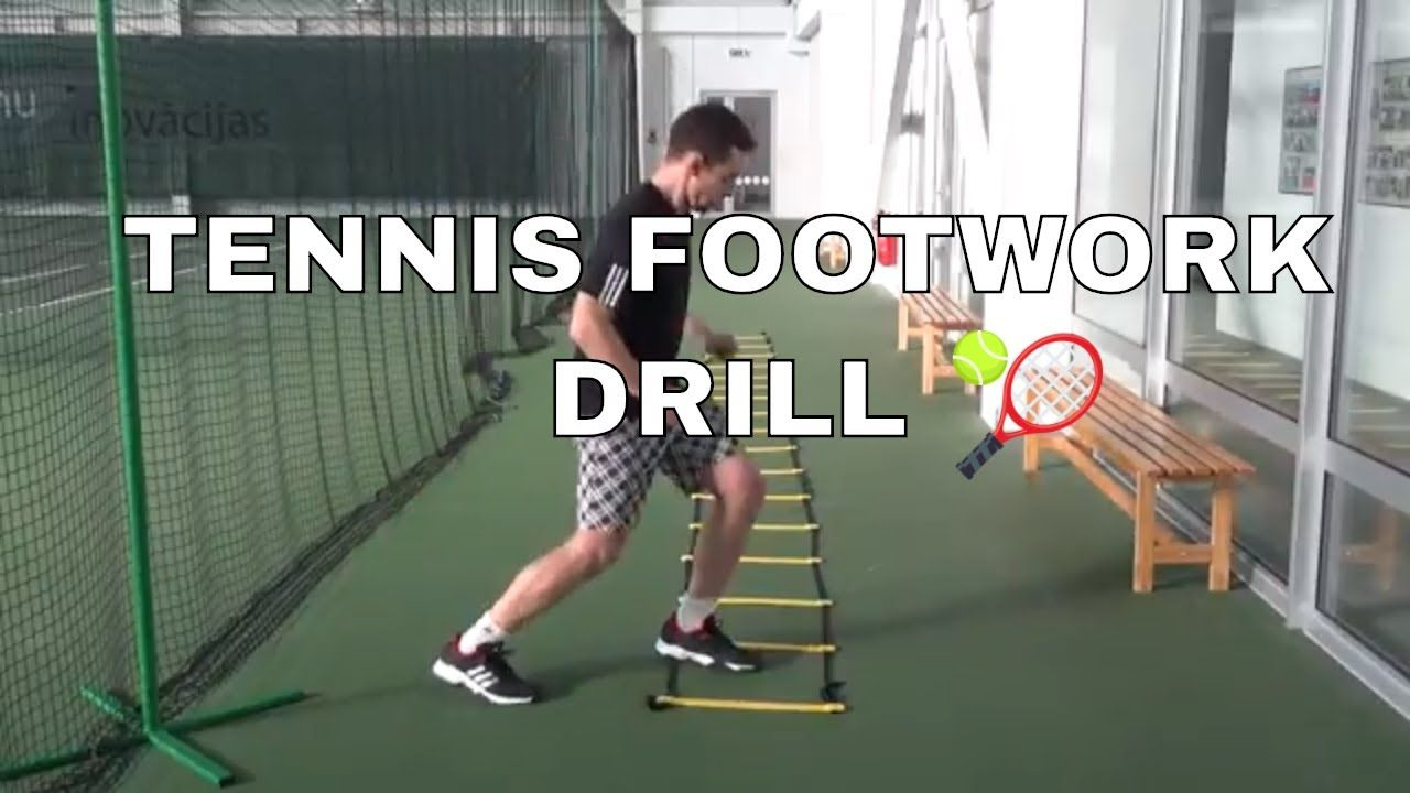 Tennis Fitness Ladder Drills For Improving Footwork Tennis Workout Tennis Lessons Tennis Tips