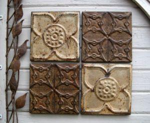 Vintage Ceiling Tile Wall Art