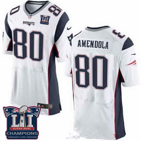 ef5e9b76a ... Nike Patriots Danny Amendola White Super Bowl LI 51 Mens Stitched NFL  New Elite Jersey And Casual - new england patriots deion branch ...