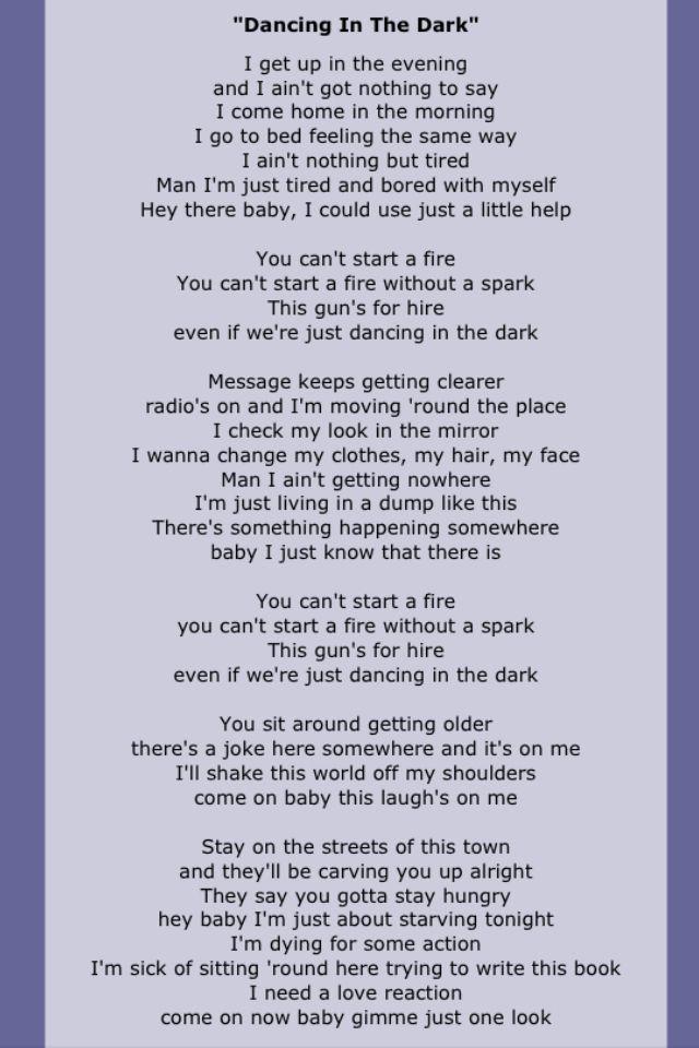 Bruce Springsteen Springsteen Lyrics Great Song Lyrics Song