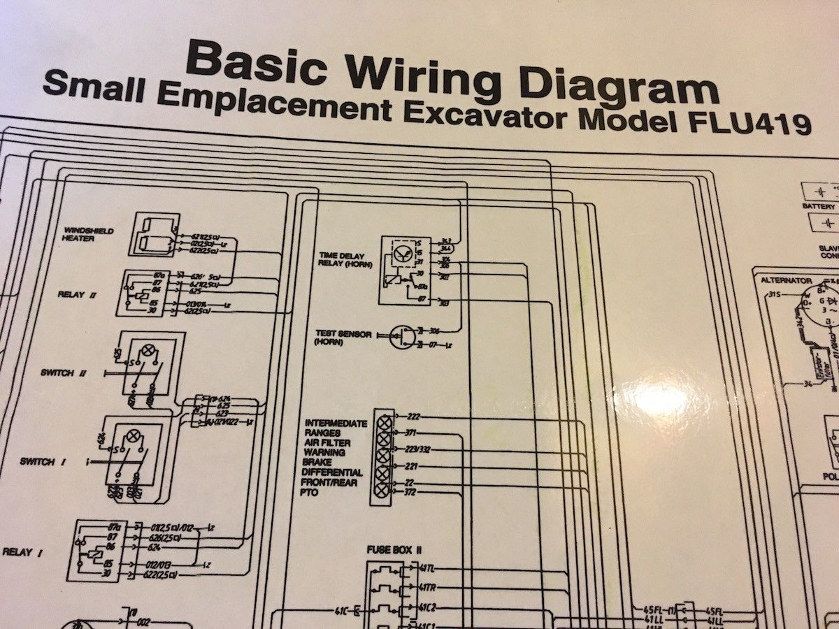 "FLU419 Unimog SEE tractor laminated wiring diagram 30 x 27 "" UNIMOG"