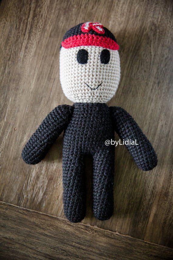 Crochet Roblox Noob Minecraft Stuffed Toy friendly guest