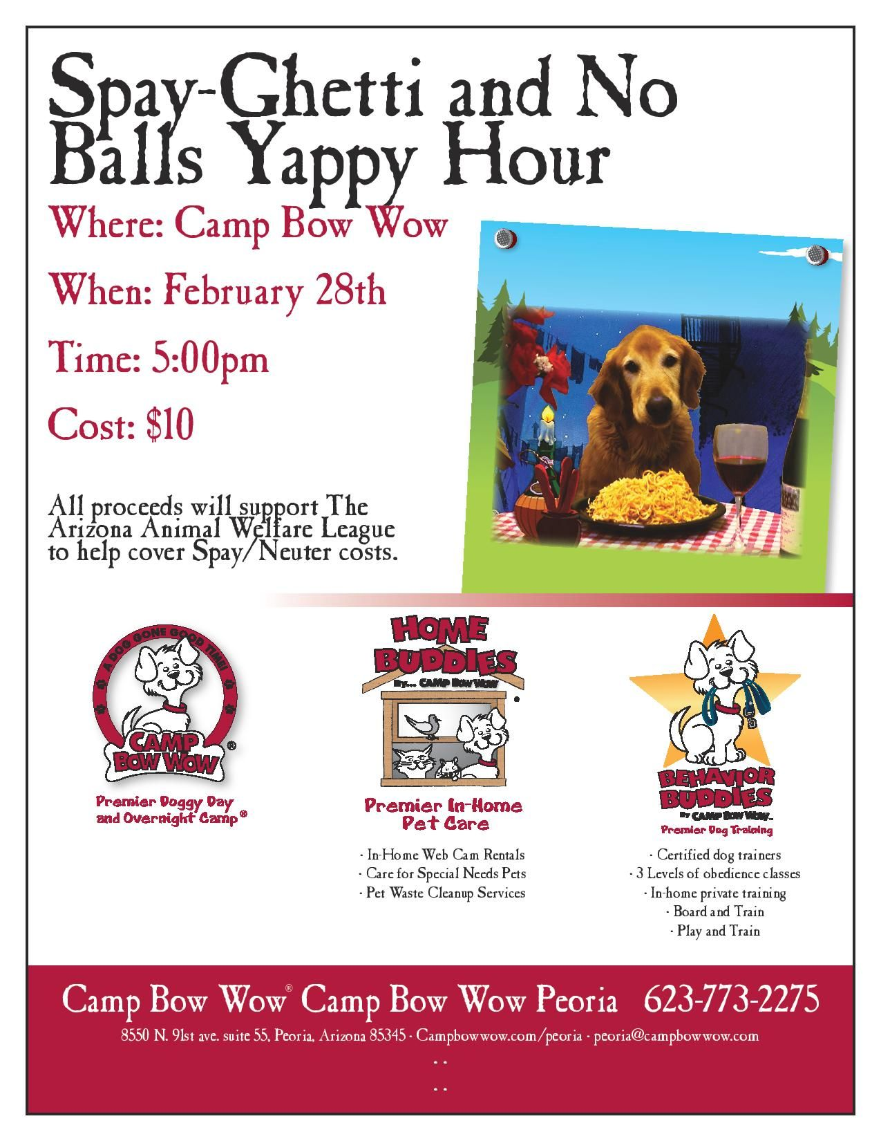 Spay Ghetti And No Balls Yappy Hour Animal Fundraising Dog