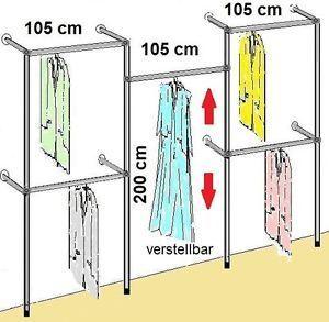 Vintage Begehbarer Kleiderschrank KLEIDERST NDER KLEIDERSTANGE GARDEROBE NEU Art W
