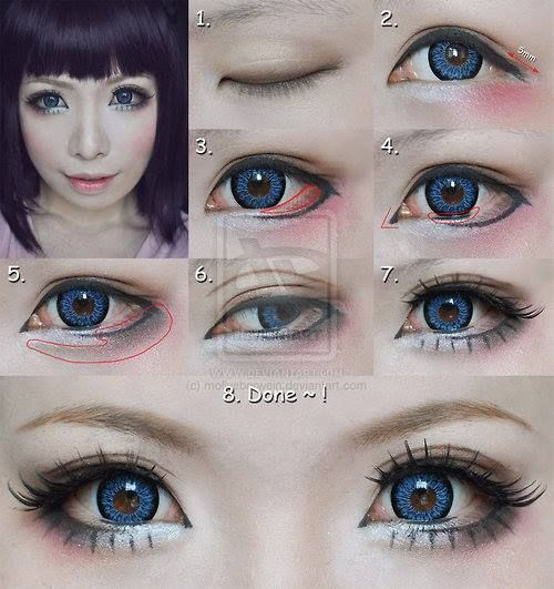 Japanese Makeup Tutorial Tumblr Anime Eye Makeup Doll Eye