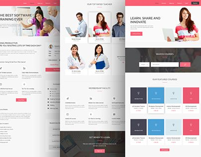 """Check out new work on my @Behance portfolio: """"E-Learning Web Template"""" http://on.be.net/1N8yOXI"""