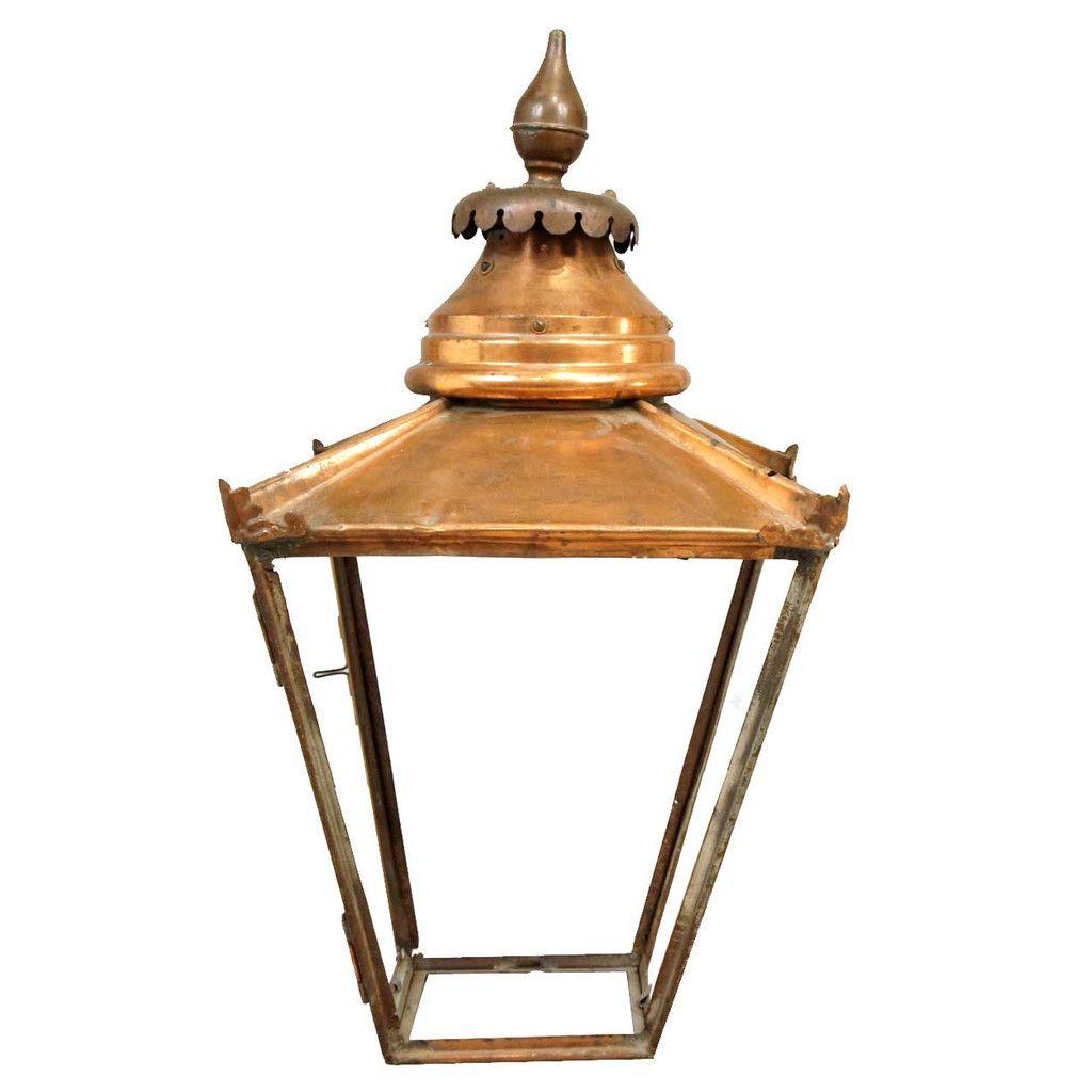 Antique English Victorian Copper Street Light Lantern Street Light Lantern Lights Antique Lanterns