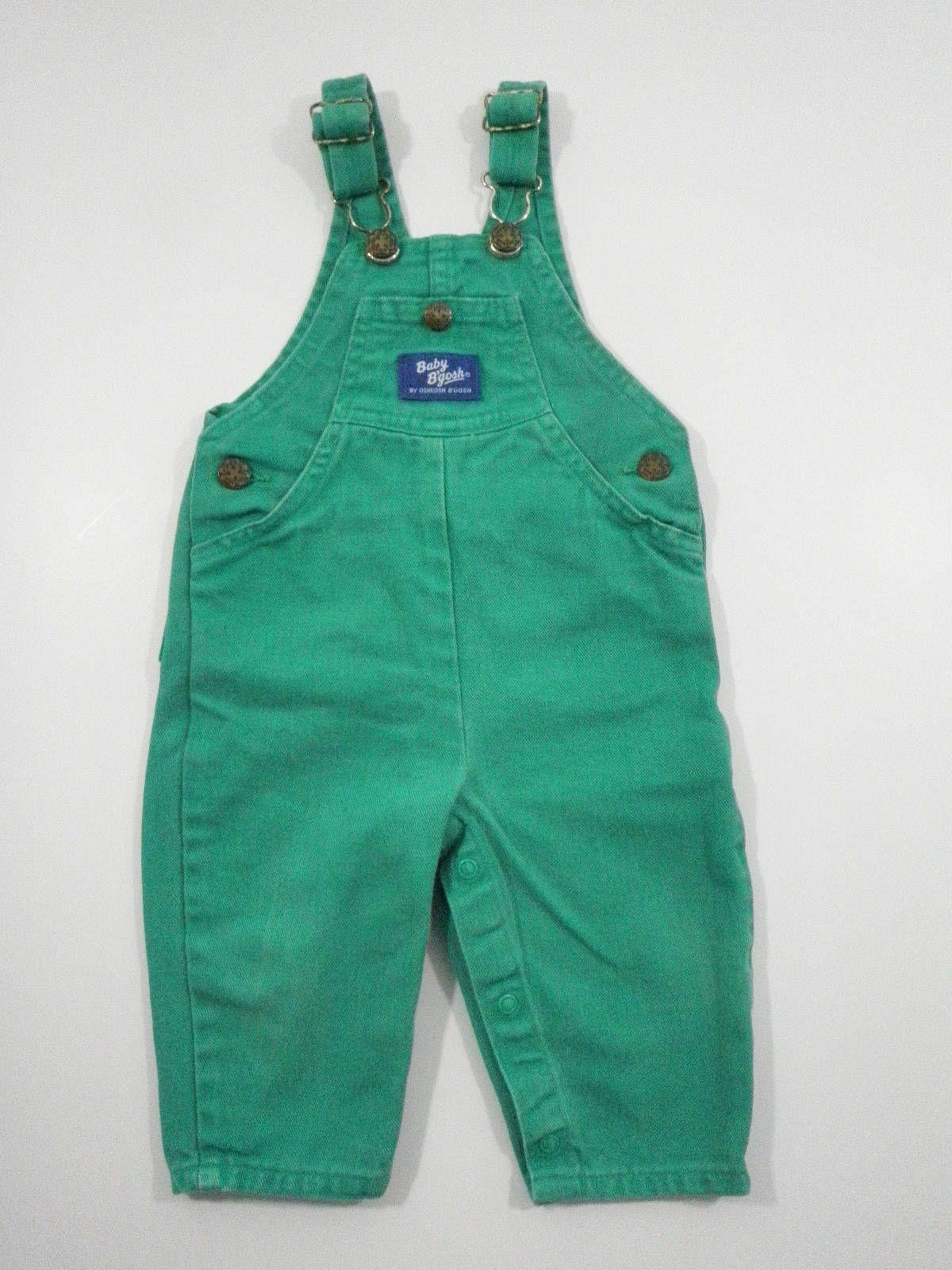 Oshkosh Bgosh Green Denim Bib Overalls Baby Boy Girl 12m Vestbak Denim Jeans Vintage Made In The Usa By Tr Vintage Childrens Clothing Childrens Clothes Clothes