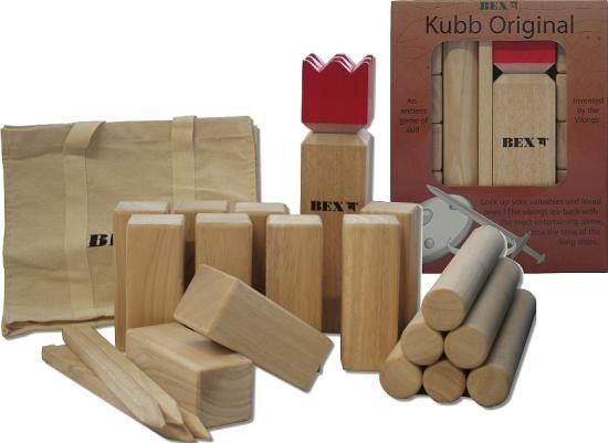 Kubb Game Original Red King on www.amightygirl.com