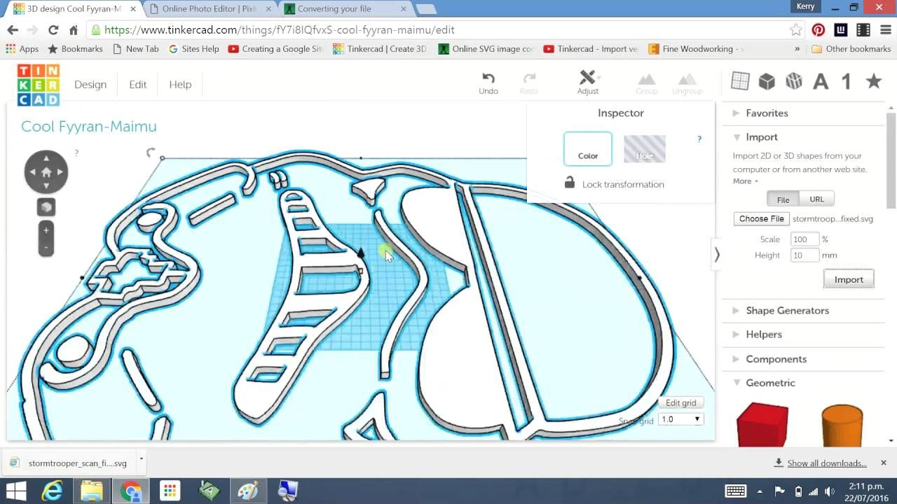 Tinkercad - scan a drawing and import | 3d printing | Pinterest