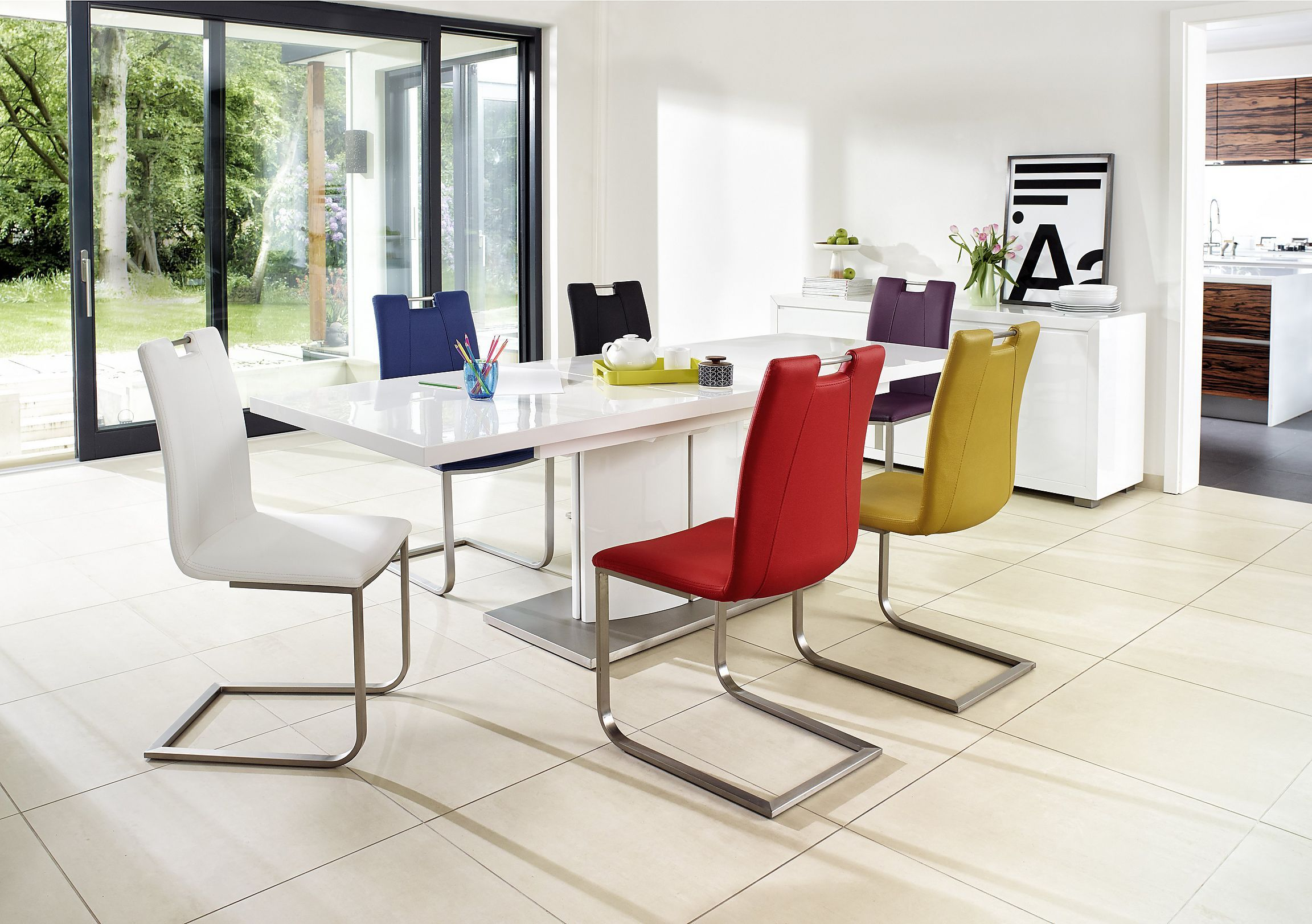 Beautifully proportioned ultramodern table is the perfect fit for