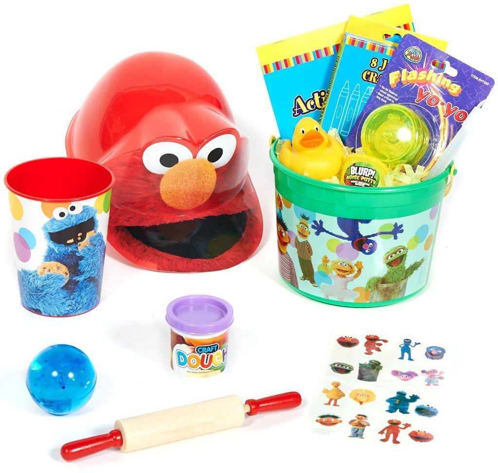 sesame street filled party favor bucket Case of 3