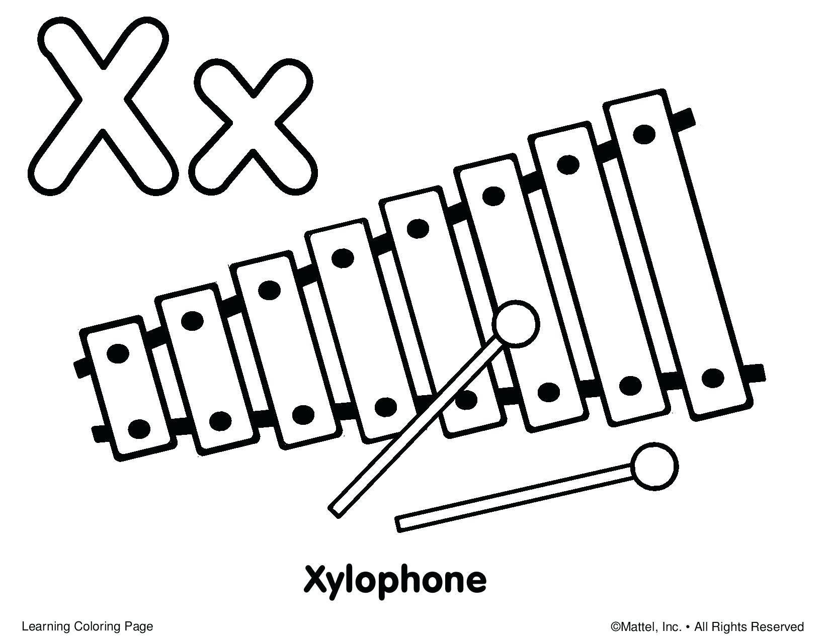 Nice Coloring Page Xylophone That You Must Know You Re In Good