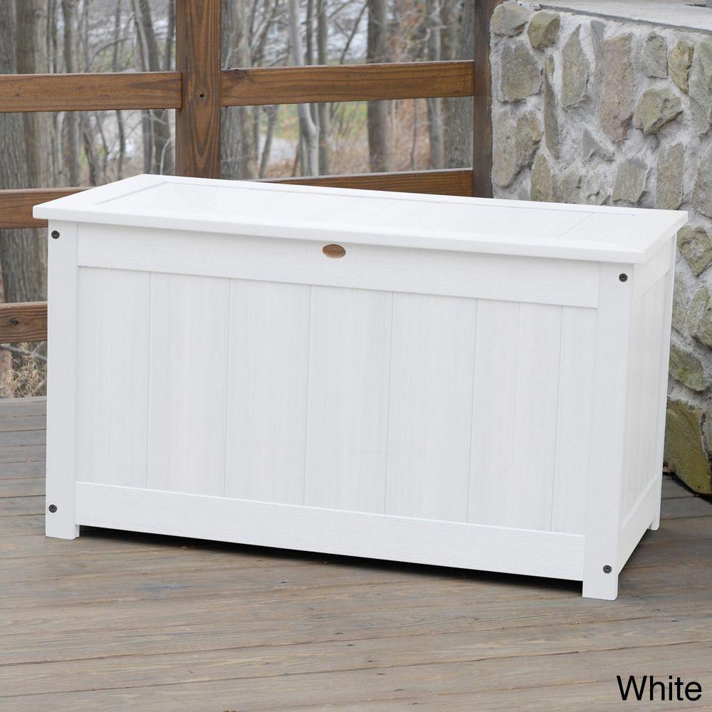Highwood Eco Friendly Synthetic Wood Premium Deck Storage (Deck Storage Box.  King Size. Charleston Green.), Patio Furniture (Plastic)