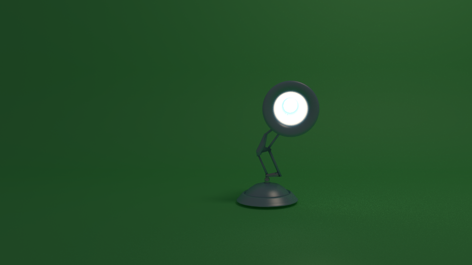 Pixar Lamp Looking At You Pixar Lamp Lamp 3d Model