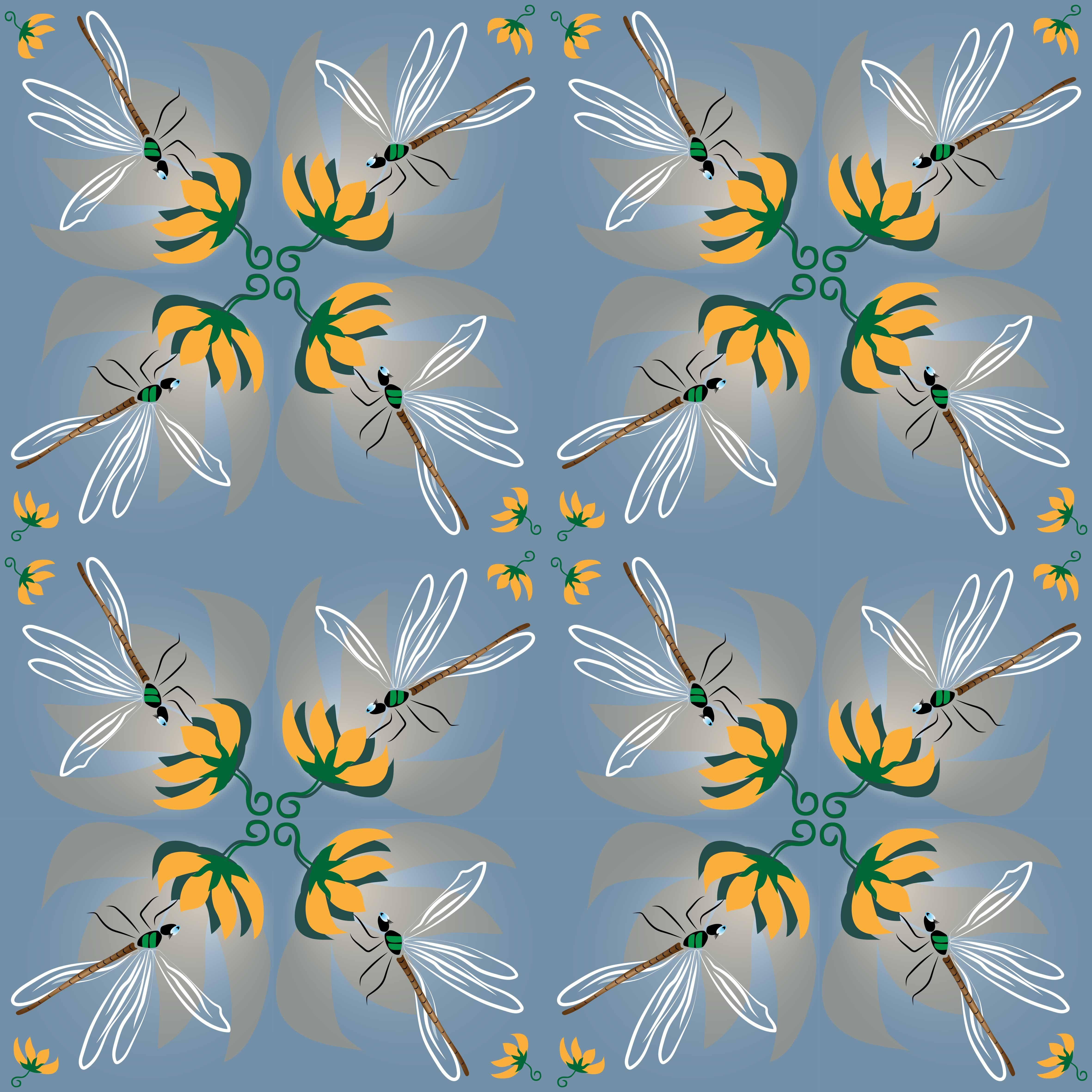 Kachel-Muster Insekten