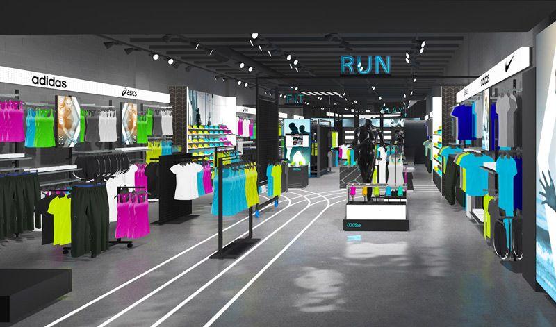 JD Pro Store overview Retail interior design, Sports
