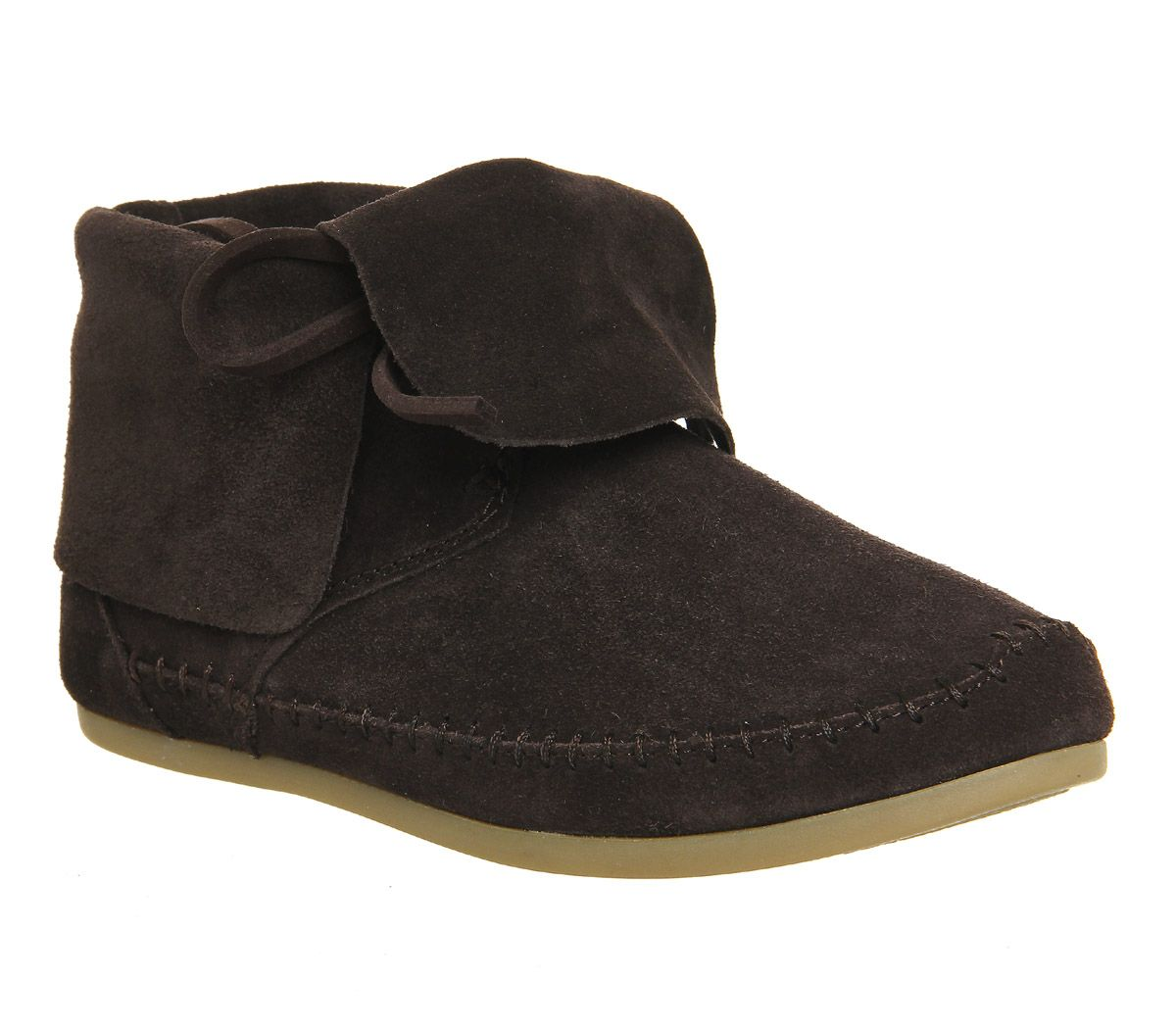 Toms Zahara Bootie Womens Ankle Boots Black Suede