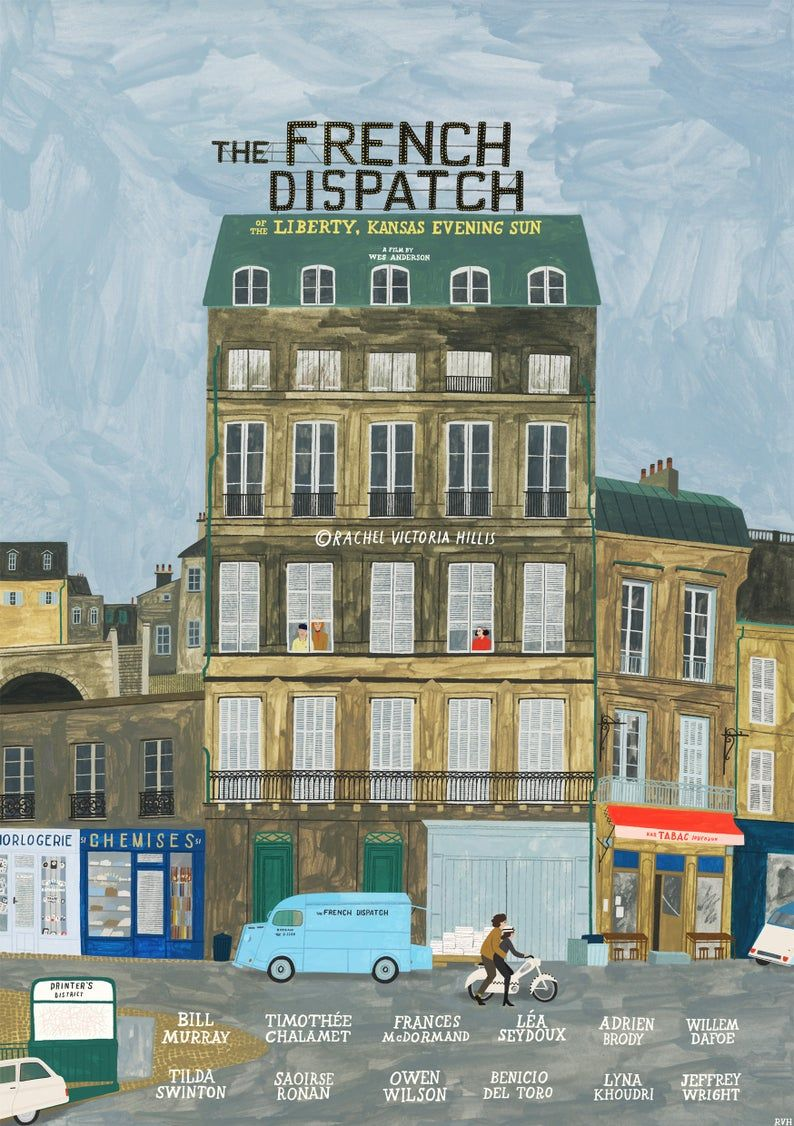 The French Dispatch (2020) | Wes anderson movies posters, Anderson movies,  Wes anderson poster