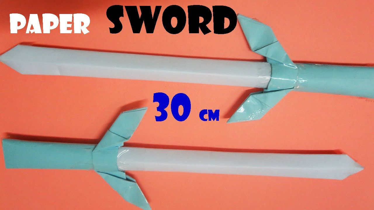 How To Make A Paper Sword That Is Strong Handicrafts Idea Origami