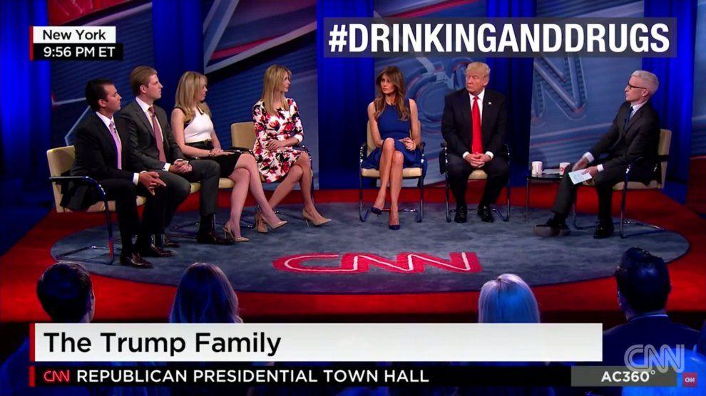 CNN, in onda va l'intera famiglia Trump