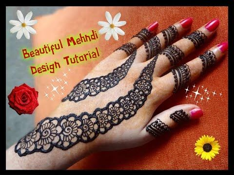 Easy Mehndi Tutorial : How to apply easy simple henna mehndi design for hands tutorial