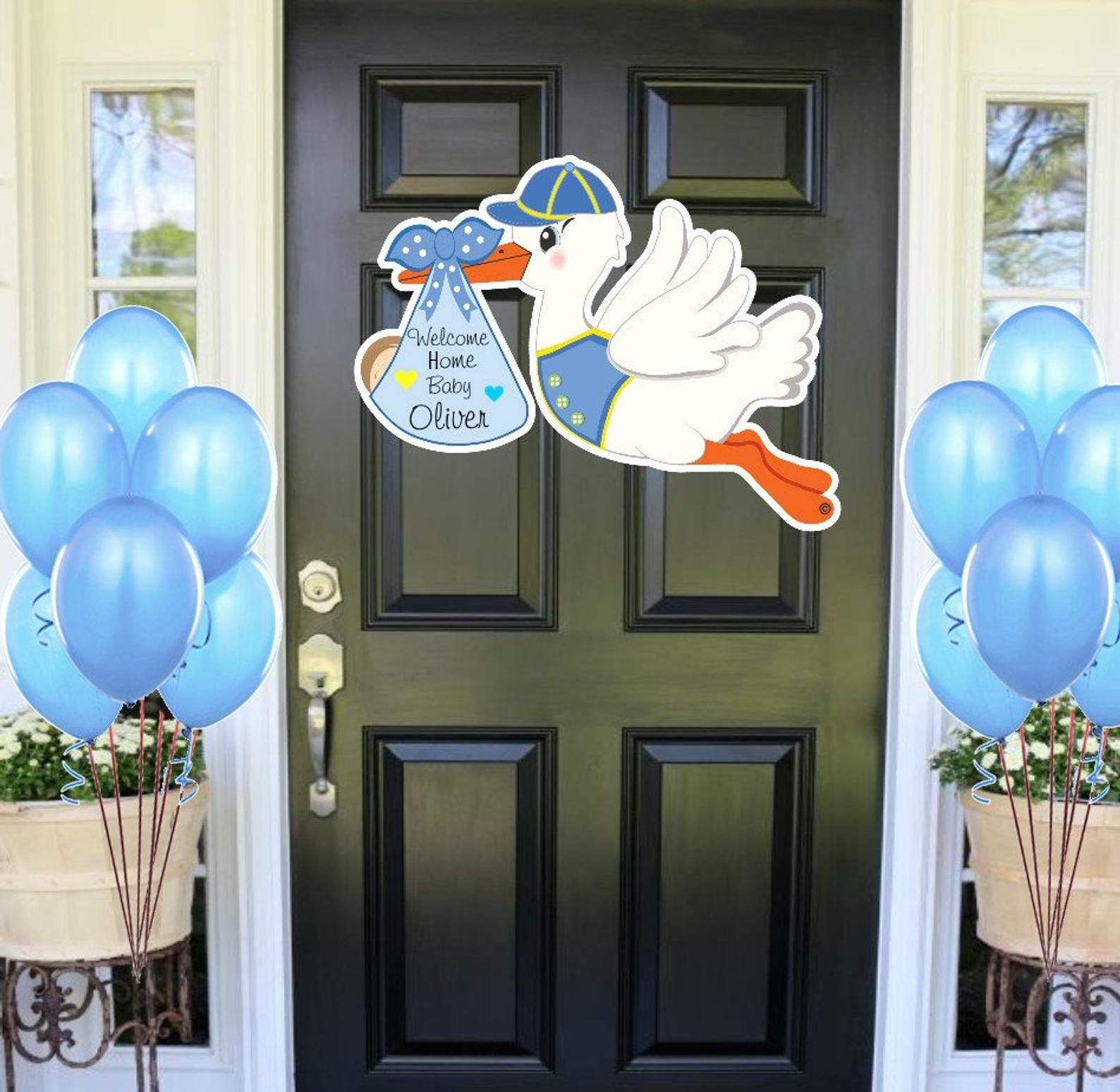 Home baby sign stork decoration signs its a boy