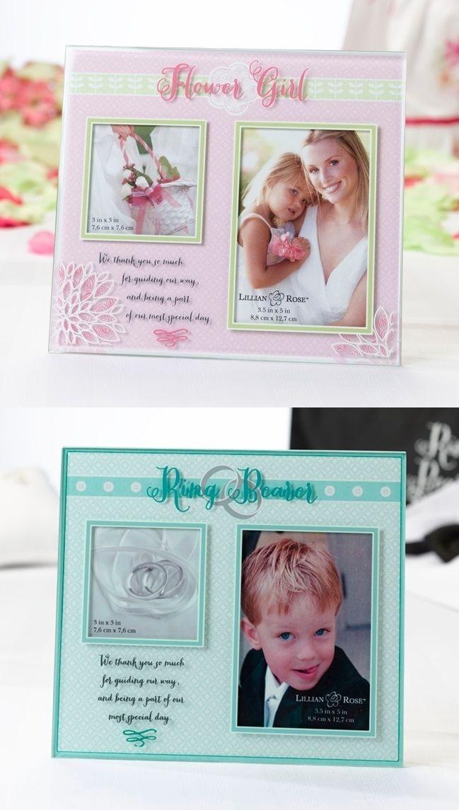 Flower Girl Photo Frame or Ring Bearer Photo Frame | Flower girl ...