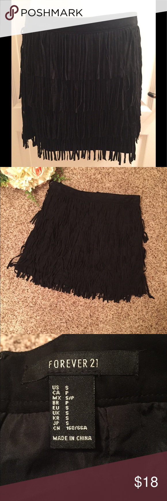88ac5c53ee 🛍WKND Sale🛍 F21 Fringed Faux Suede Skirt NWT Forever 21 Fringed Faux  Suede Skirt