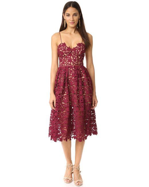 64e4f46395f70 Self-Portrait | Multicolor Azaelea Guipure Lace Dress | Lyst | From ...